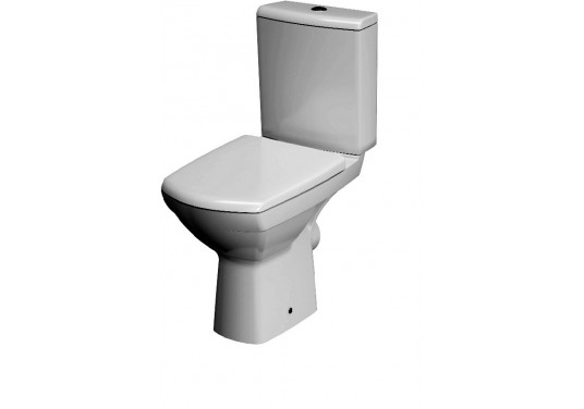 Set wc compact Carina Cersanit cu capac duroplast